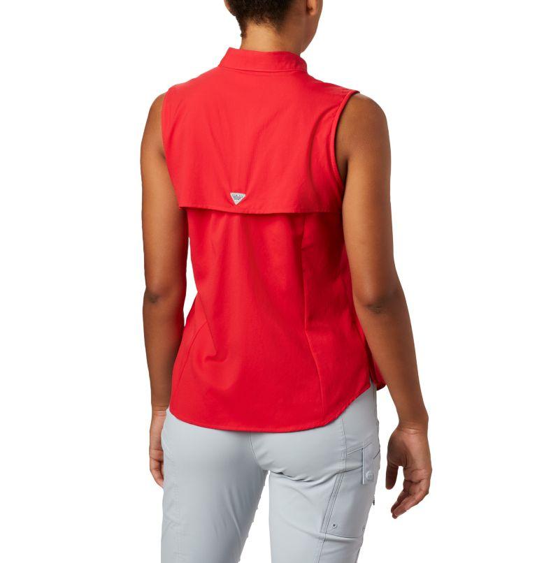 Tamiami™ Women's Sleeveless Shirt | 658 | XS Women's PFG Tamiami™ Sleeveless Shirt, Red Lily, back