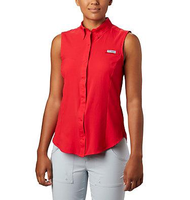 Women's PFG Tamiami™ Sleeveless Shirt Tamiami™ Women's Sleeveless Shirt | 305 | S, Red Lily, front