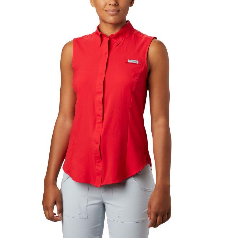Tamiami™ Women's Sleeveless Shirt | 658 | XS Women's PFG Tamiami™ Sleeveless Shirt, Red Lily, front