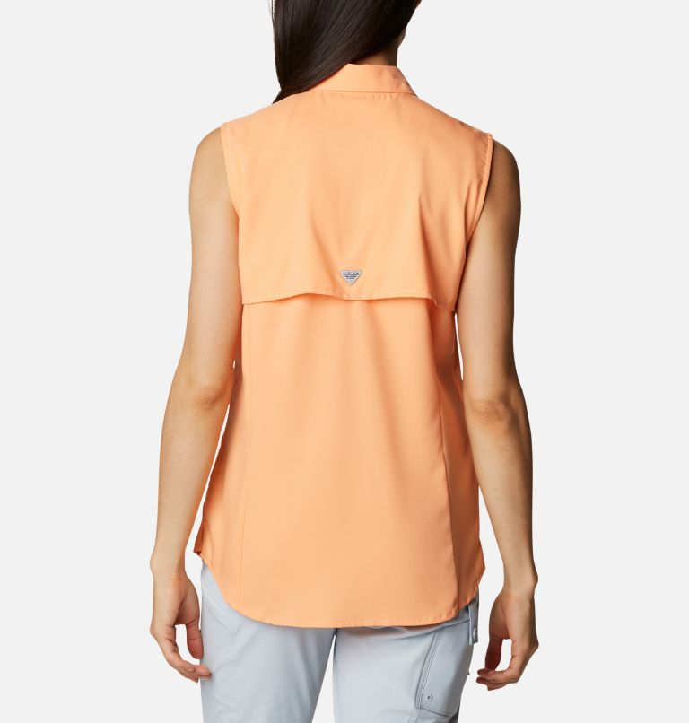 Tamiami™ Women's Sleeveless Shirt | 873 | L Women's PFG Tamiami™ Sleeveless Shirt, Bright Nectar, back