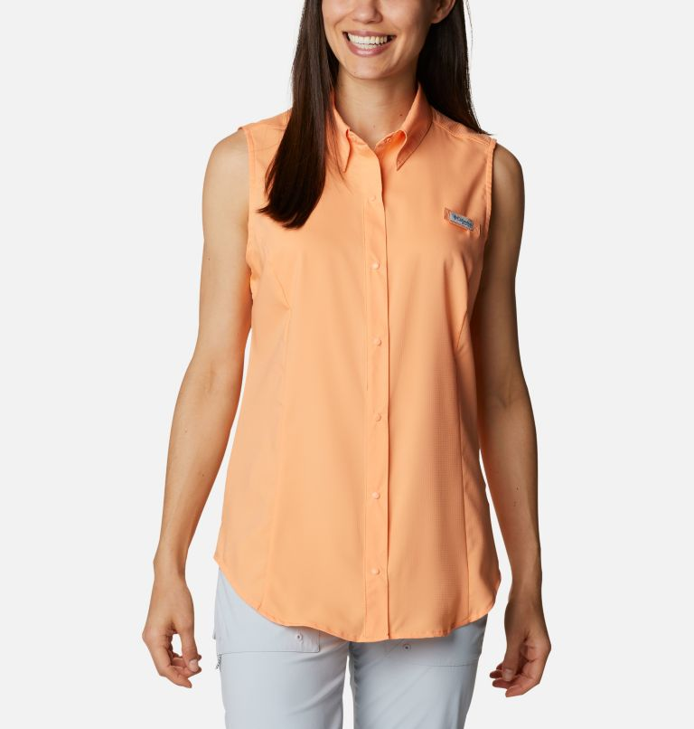 Tamiami™ Women's Sleeveless Shirt | 873 | L Women's PFG Tamiami™ Sleeveless Shirt, Bright Nectar, front