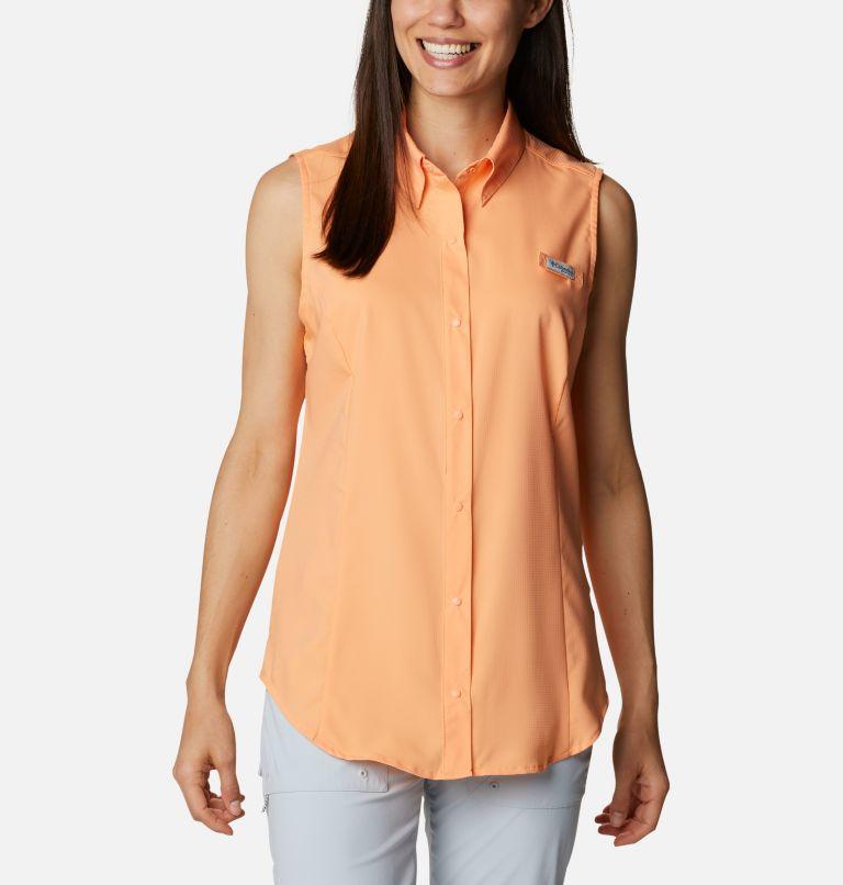 Tamiami™ Women's Sleeveless Shirt | 873 | M Women's PFG Tamiami™ Sleeveless Shirt, Bright Nectar, front