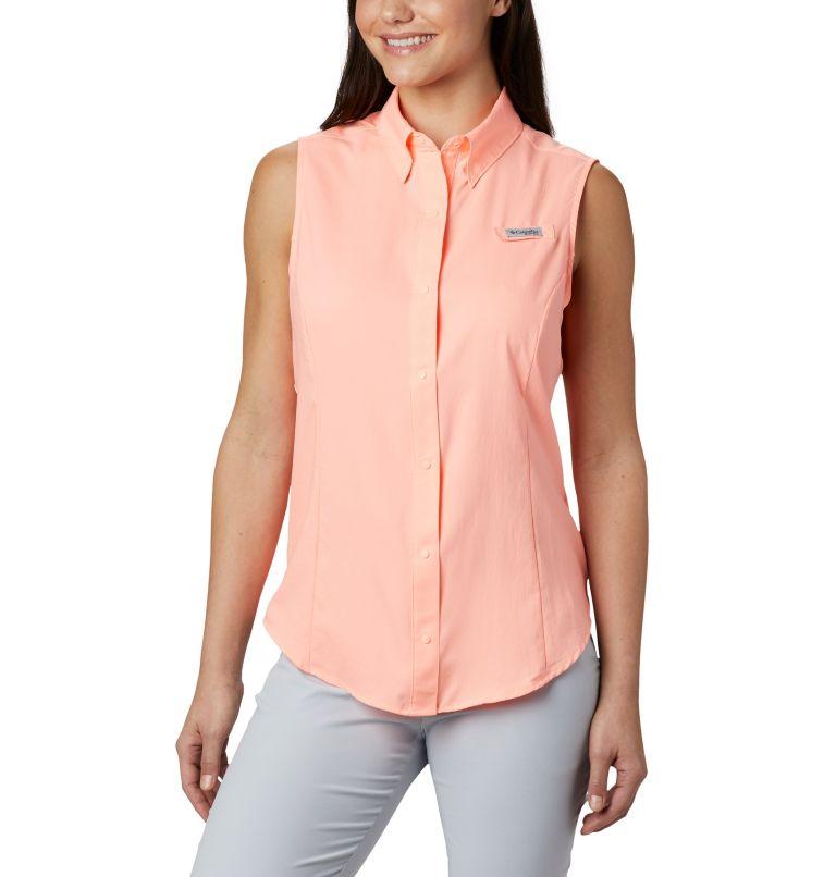 Tamiami™ Women's Sleeveless Shirt   884   XL Women's PFG Tamiami™ Sleeveless Shirt, Tiki Pink, front