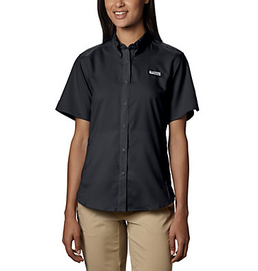 Women's PFG Tamiami™ II Short Sleeve Shirt Womens Tamiami™ II SS Shirt | 658 | L, Black, front
