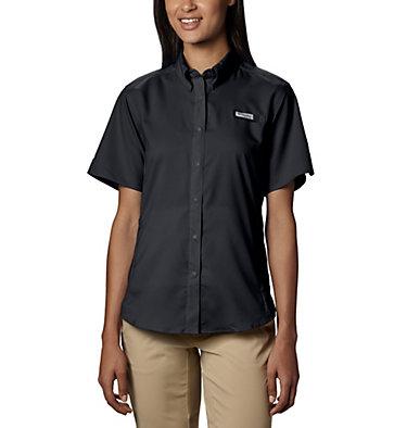 Women's PFG Tamiami™ II Short Sleeve Shirt Womens Tamiami™ II SS Shirt | 658 | L, Black, front