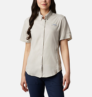 Women's PFG Tamiami™ II Short Sleeve Shirt Womens Tamiami™ II SS Shirt | 658 | L, Light Cloud, front