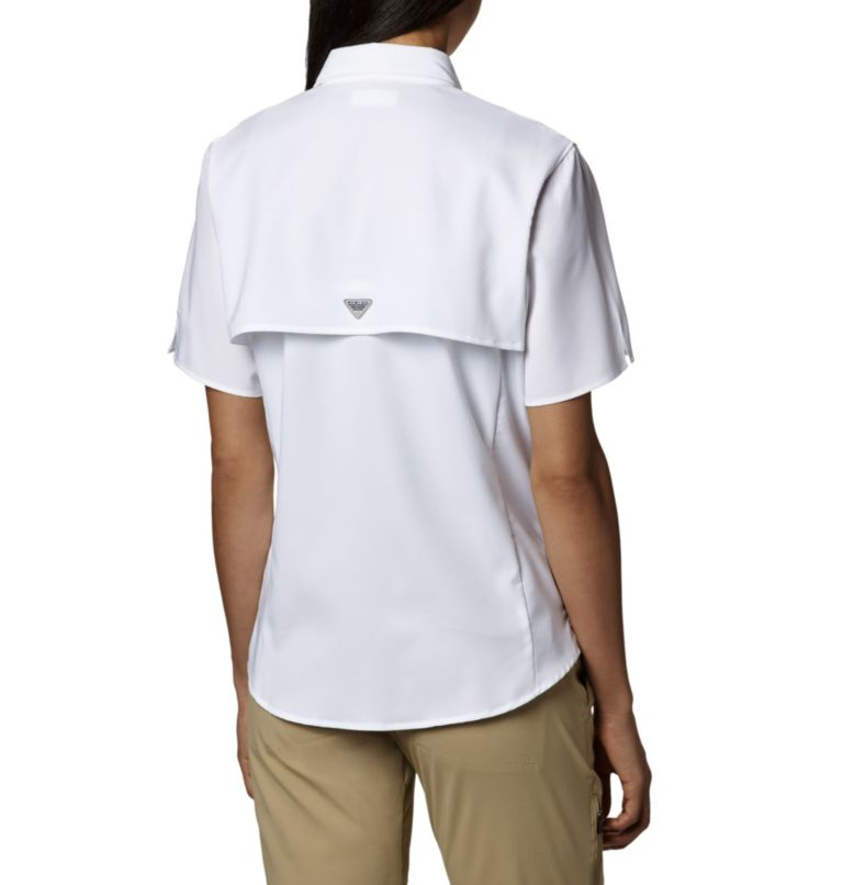 Womens Tamiami™ II SS Shirt | 100 | L Women's PFG Tamiami™ II Short Sleeve Shirt, White, back