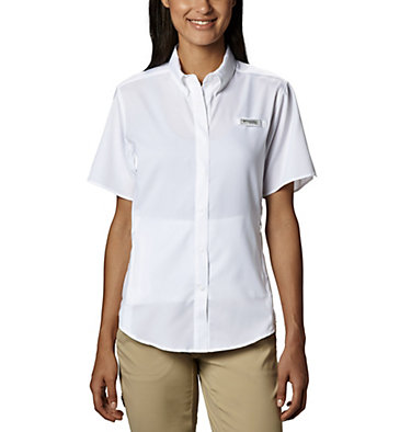 Women's PFG Tamiami™ II Short Sleeve Shirt Womens Tamiami™ II SS Shirt | 658 | L, White, front