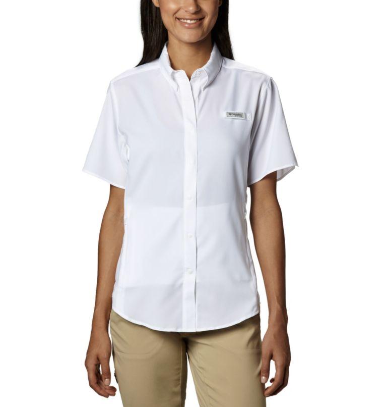Womens Tamiami™ II SS Shirt | 100 | L Women's PFG Tamiami™ II Short Sleeve Shirt, White, front