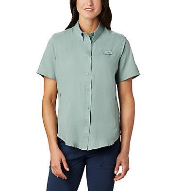 Women's PFG Tamiami™ II Short Sleeve Shirt Womens Tamiami™ II SS Shirt | 658 | L, Light Lichen, front