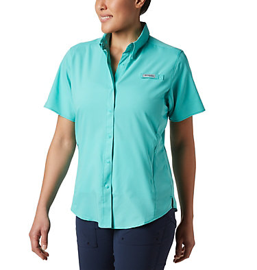 Women's PFG Tamiami™ II Short Sleeve Shirt Womens Tamiami™ II SS Shirt | 658 | L, Dolphin, front