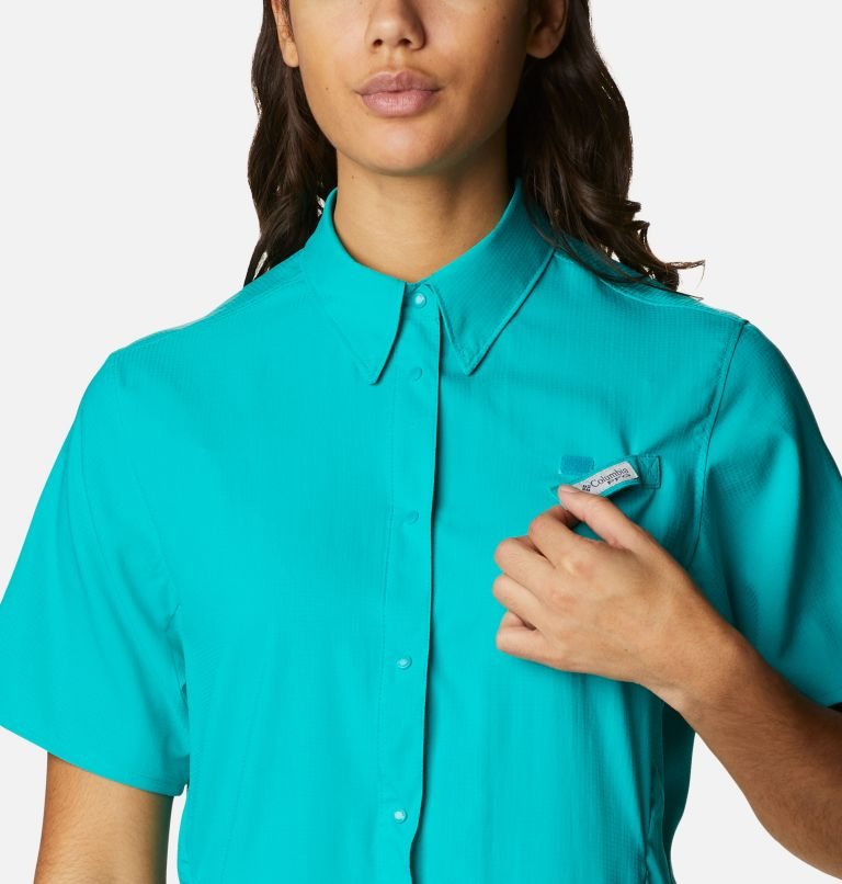 Womens Tamiami™ II SS Shirt   360   L Women's PFG Tamiami™ II Short Sleeve Shirt, Tropic Water, a2