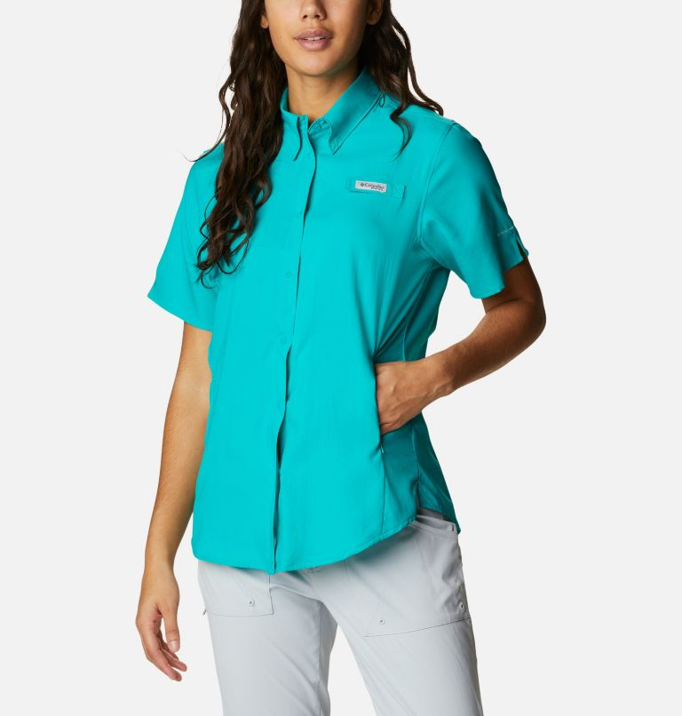 Womens Tamiami™ II SS Shirt   360   L Women's PFG Tamiami™ II Short Sleeve Shirt, Tropic Water, front