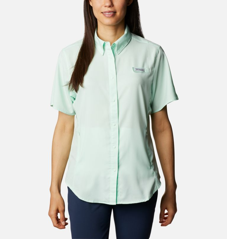 Womens Tamiami™ II SS Shirt | 383 | L Women's PFG Tamiami™ II Short Sleeve Shirt, Light Mint, front
