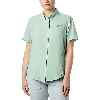 Women's PFG Tamiami™ II Short Sleeve Shirt Womens Tamiami™ II SS Shirt | 658 | L, New Mint, front