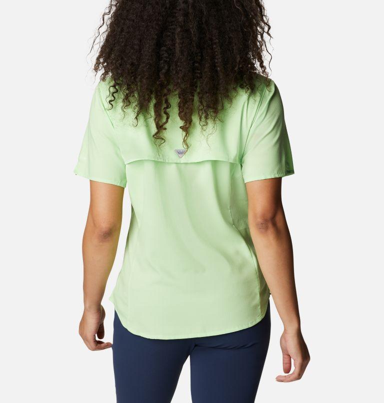 Womens Tamiami™ II SS Shirt   398   M Women's PFG Tamiami™ II Short Sleeve Shirt, Lime Glow, back