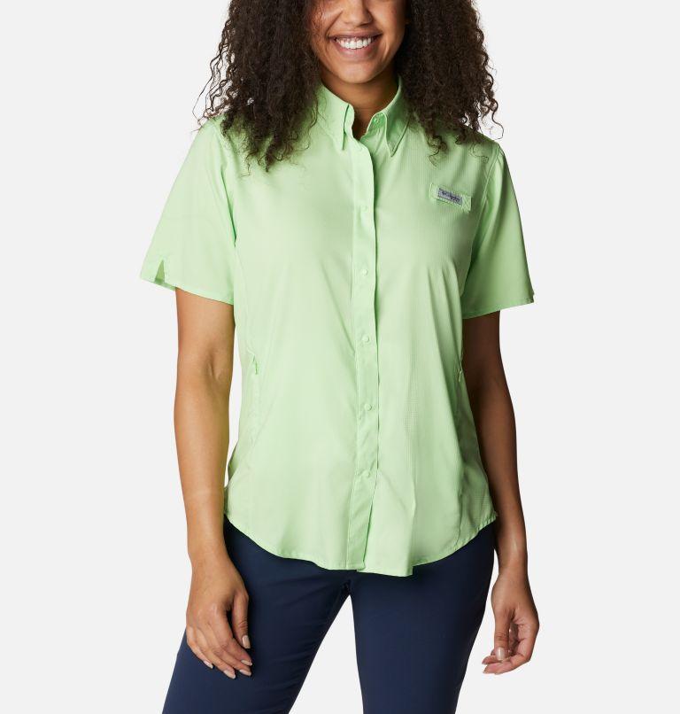 Womens Tamiami™ II SS Shirt   398   M Women's PFG Tamiami™ II Short Sleeve Shirt, Lime Glow, front
