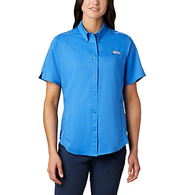 Women's PFG Tamiami™ II Short Sleeve Shirt Womens Tamiami™ II SS Shirt | 658 | L, Stormy Blue, front
