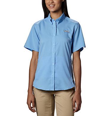 Women's PFG Tamiami™ II Short Sleeve Shirt Womens Tamiami™ II SS Shirt | 658 | L, White Cap, front