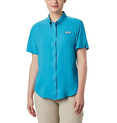 Women's PFG Tamiami™ II Short Sleeve Shirt Womens Tamiami™ II SS Shirt   658   L, Clear Water, front
