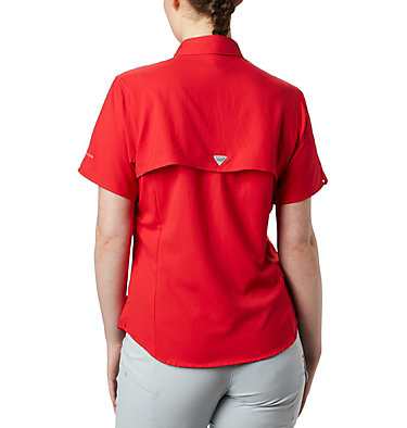 Women's PFG Tamiami™ II Short Sleeve Shirt Womens Tamiami™ II SS Shirt | 658 | L, Red Lily, back