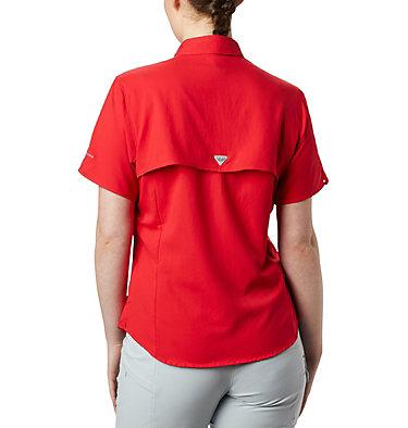 Women's PFG Tamiami™ II Short Sleeve Shirt Womens Tamiami™ II SS Shirt | 658 | L, Red Lily, back