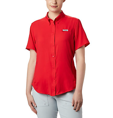 Women's PFG Tamiami™ II Short Sleeve Shirt Womens Tamiami™ II SS Shirt | 658 | L, Red Lily, front