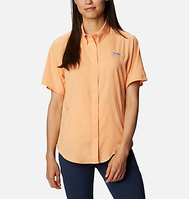 Women's PFG Tamiami™ II Short Sleeve Shirt Womens Tamiami™ II SS Shirt | 658 | L, Light Juice, front