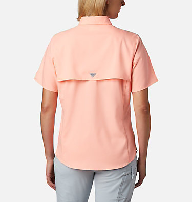 Women's PFG Tamiami™ II Short Sleeve Shirt Womens Tamiami™ II SS Shirt | 658 | L, Tiki Pink, back