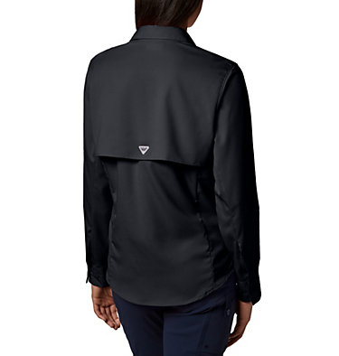 Women's PFG Tamiami™ II Long Sleeve Shirt Womens Tamiami™ II LS Shirt | 658 | L, Black, back