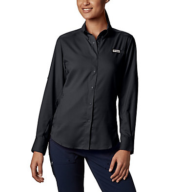 Women's PFG Tamiami™ II Long Sleeve Shirt Womens Tamiami™ II LS Shirt | 658 | L, Black, front
