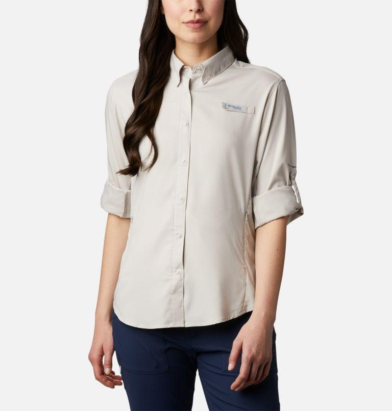 Womens Tamiami™ II LS Shirt | 020 | XL Women's PFG Tamiami™ II Long Sleeve Shirt, Light Cloud, a4