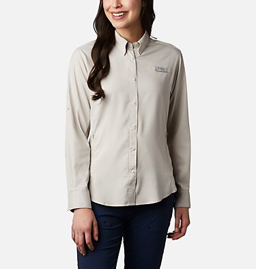 Women's PFG Tamiami™ II Long Sleeve Shirt Womens Tamiami™ II LS Shirt | 658 | L, Light Cloud, front