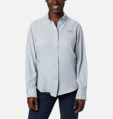 Women's PFG Tamiami™ II Long Sleeve Shirt Womens Tamiami™ II LS Shirt | 658 | L, Cirrus Grey, front