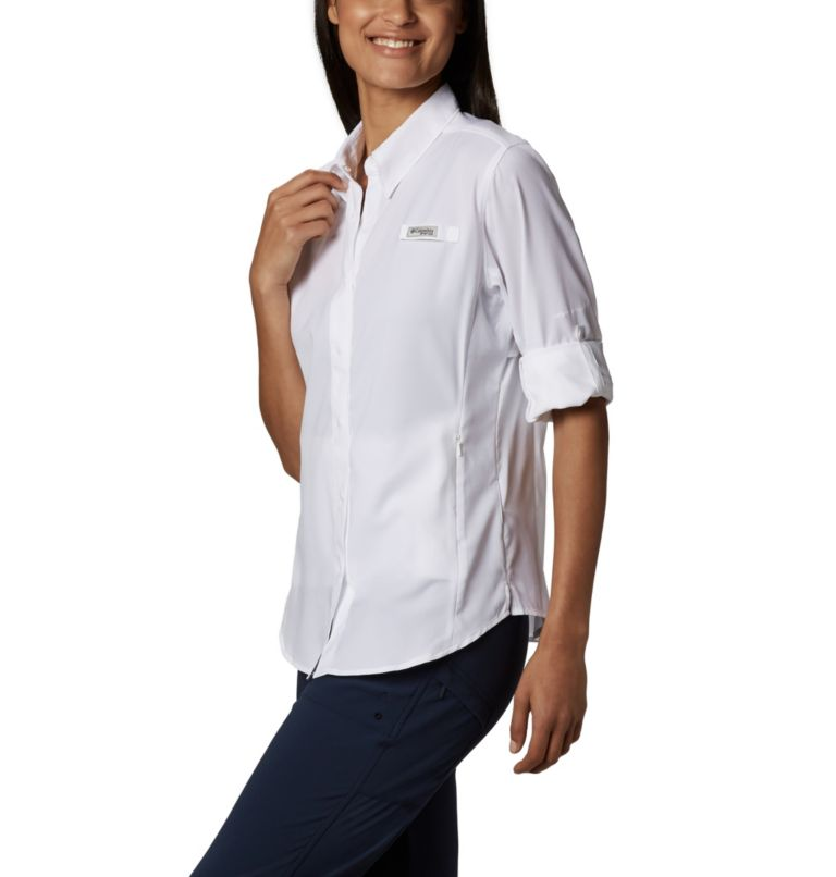 Womens Tamiami™ II LS Shirt | 100 | M Women's PFG Tamiami™ II Long Sleeve Shirt, White, a1