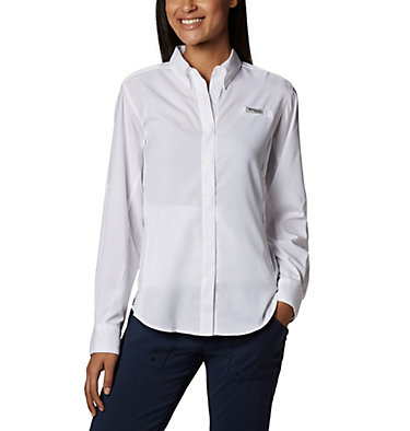 Women's PFG Tamiami™ II Long Sleeve Shirt Womens Tamiami™ II LS Shirt | 658 | L, White, front