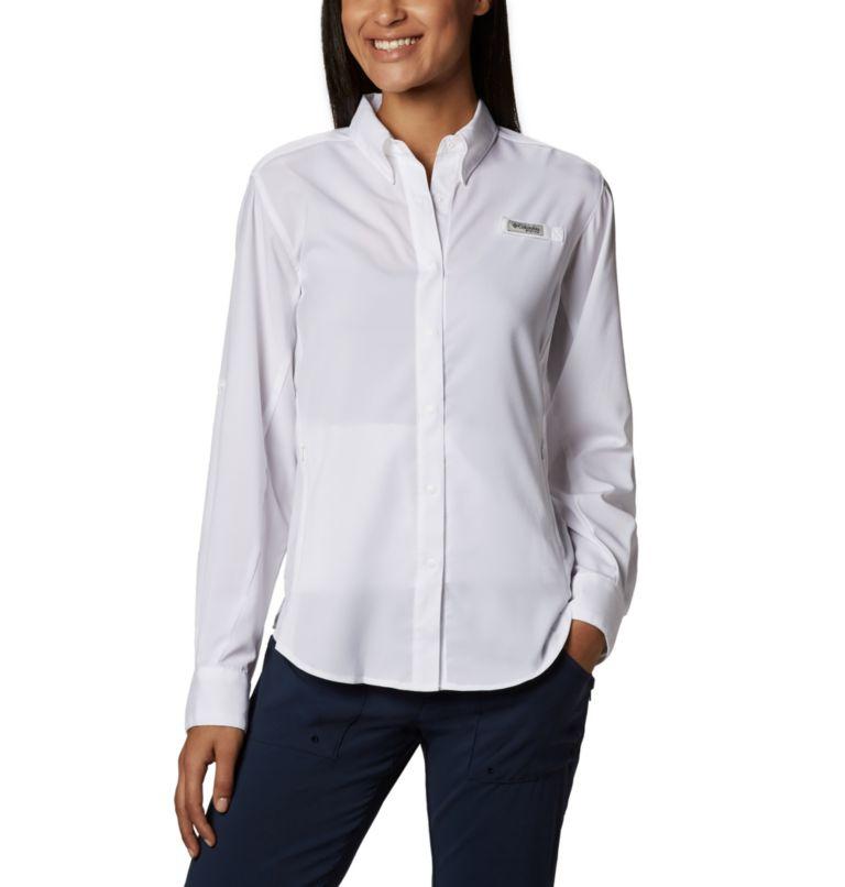 Womens Tamiami™ II LS Shirt | 100 | M Women's PFG Tamiami™ II Long Sleeve Shirt, White, front