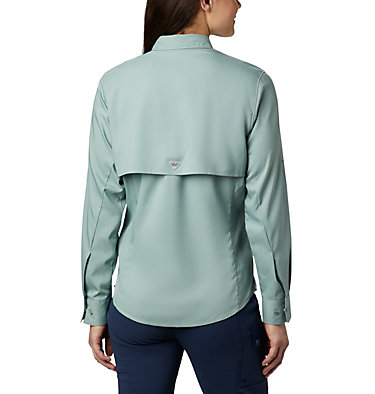 Women's PFG Tamiami™ II Long Sleeve Shirt Womens Tamiami™ II LS Shirt | 658 | L, Light Lichen, back