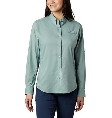 Women's PFG Tamiami™ II Long Sleeve Shirt Womens Tamiami™ II LS Shirt | 658 | L, Light Lichen, front