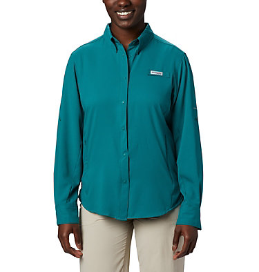 Women's PFG Tamiami™ II Long Sleeve Shirt Womens Tamiami™ II LS Shirt | 658 | L, Waterfall, front