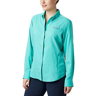 Women's PFG Tamiami™ II Long Sleeve Shirt Womens Tamiami™ II LS Shirt | 658 | L, Dolphin, front