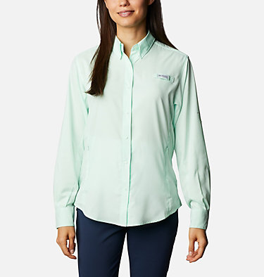 Women's PFG Tamiami™ II Long Sleeve Shirt Womens Tamiami™ II LS Shirt | 658 | L, Light Mint, front