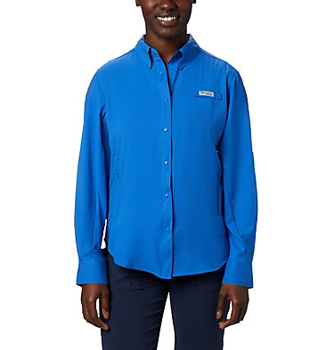 Women's PFG Tamiami™ II Long Sleeve Shirt Womens Tamiami™ II LS Shirt   658   L, Stormy Blue, front