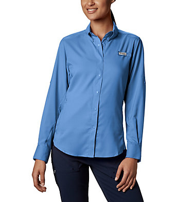Women's PFG Tamiami™ II Long Sleeve Shirt Womens Tamiami™ II LS Shirt | 658 | L, White Cap, front