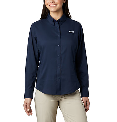 Women's PFG Tamiami™ II Long Sleeve Shirt Womens Tamiami™ II LS Shirt | 658 | L, Collegiate Navy, front