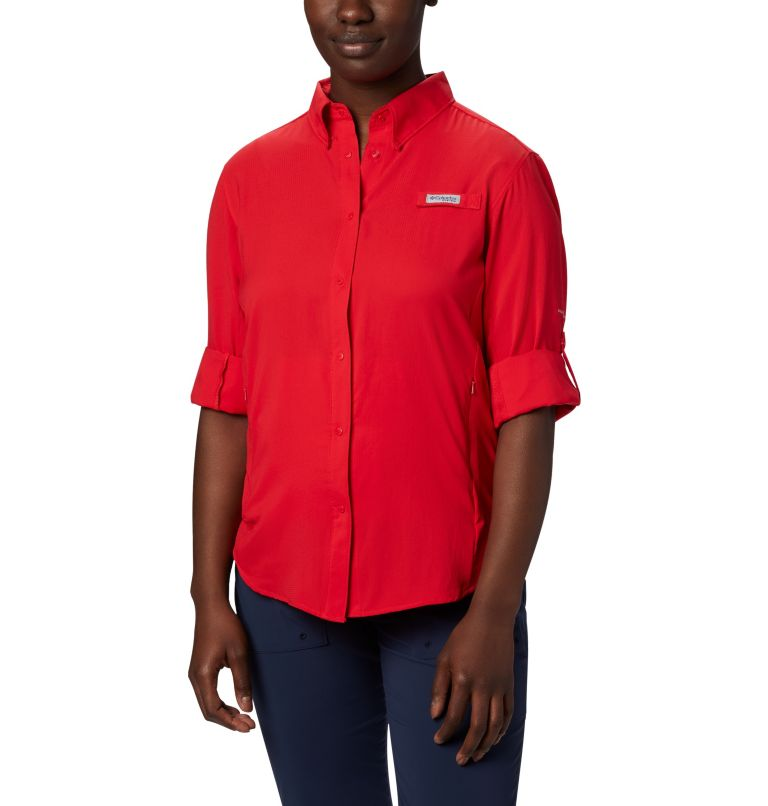 Womens Tamiami™ II LS Shirt | 658 | L Women's PFG Tamiami™ II Long Sleeve Shirt, Red Lily, a1