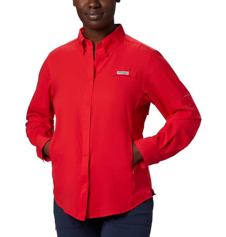 Womens Tamiami™ II LS Shirt | 658 | M Women's PFG Tamiami™ II Long Sleeve Shirt, Red Lily, a4