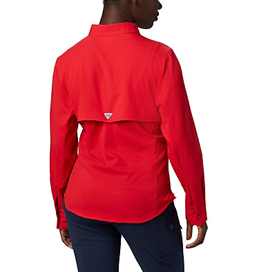 Women's PFG Tamiami™ II Long Sleeve Shirt Womens Tamiami™ II LS Shirt | 658 | L, Red Lily, back