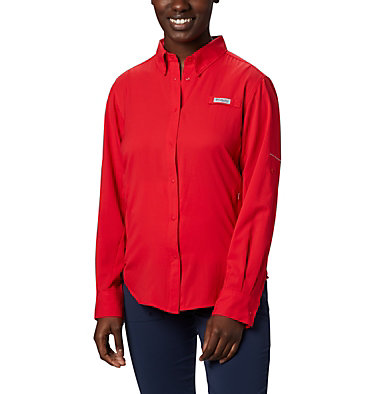 Women's PFG Tamiami™ II Long Sleeve Shirt Womens Tamiami™ II LS Shirt   658   L, Red Lily, front