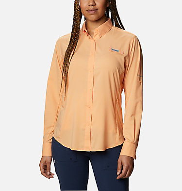 Women's PFG Tamiami™ II Long Sleeve Shirt Womens Tamiami™ II LS Shirt | 658 | L, Light Juice, front